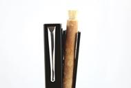 Penwak Swivel Case Glossy Grey Open Miswak