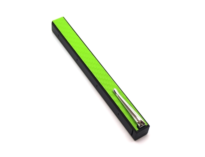 Penwak Swivel Case Glossy Grey Carbon Fibre Green