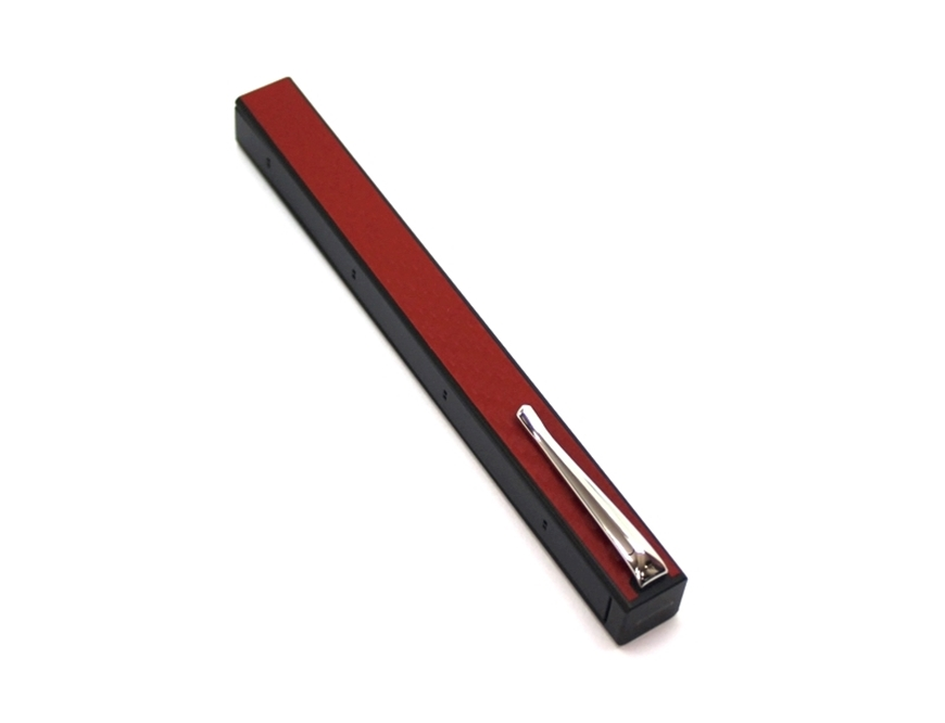 Penwak Swivel Case Glossy Grey Carbon Fibre Red