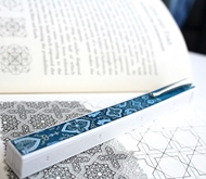Penwak Swivel Case Pure White Turkish Blue Book