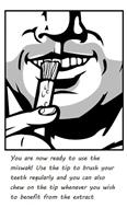 Penwak miswak tooth-stick graphic